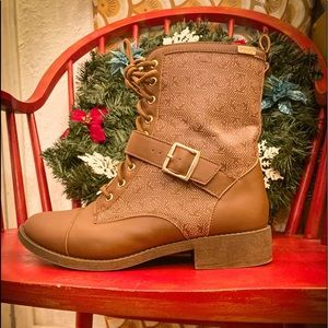 Bebe brown faux leather boots